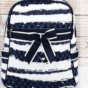 Quilted Navy Backpack